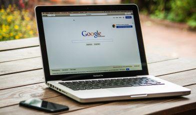 google browser on mac laptop